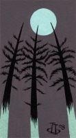 Spooky Trees Card by pumml