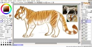 Golden Tabby Tiger WIP? by SillyTheWolf