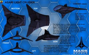 Asari Light Cruiser Vaeeno class Overview by Euderion