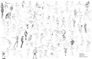 Gesture Drawings by bloochikin