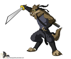 Ninja Werewolf by FreezingIceKirby