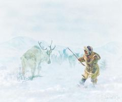 Caribou Hunt by Shawna Mac by ShawnaMac