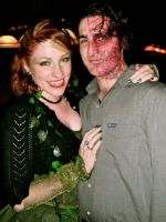 Poison Ivy and Two-face by MyDemonMuse