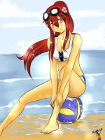 On the beach by Hermes04