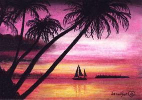 Beach Sunset by Jenileigh