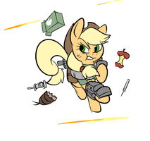 Fallout Ponies - Applejack by Metal-Kitty