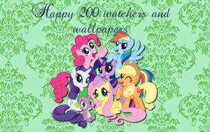 Happy 200 wallpapers by AliceHumanSacrifice0