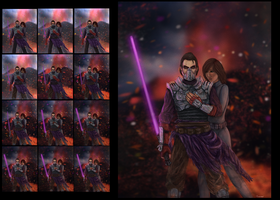 Star Wars Old Republic Commission-Progress Shots by thesadpencil