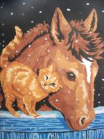 Horse and Cat by bubblesvx1100531