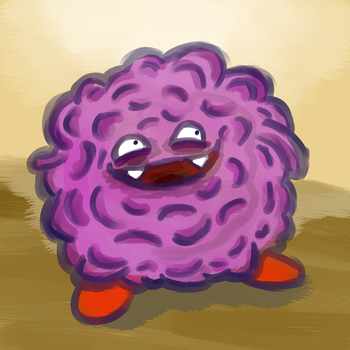 Tangela-Koffing Fusion by adamwoolston