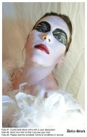 Black Swan FacePaint.9 by Della-Stock
