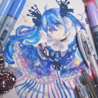 winter night miku by calamityusagi