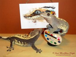 MOCHA AND CADBURY, PAINTER GECKOS! by NocturneJewel