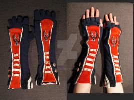 Dunwall Citywatch-style fingerless gloves by Feivelyn