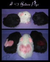 I :heart: Guinea Pigs Plushies by Morumoto