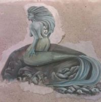 Mermaid painted in Fresco by Sunny20
