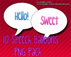 10 Speech Balloons PNG Pack by Sweet-chibix