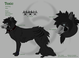 Toxic Reference sheet commission by CyanLights