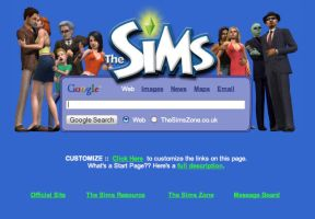 The Sims Startpage by AwesomeStart