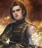 Bucky-Winter Soldier by pastellZHQ