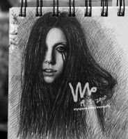 drawing of Lady Gaga 3 by mcglory