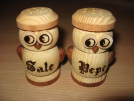 Owls shakers - detail by Sekishiki