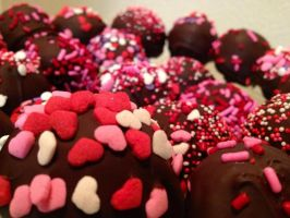 Valentines Day Cake Pops by Mghbear