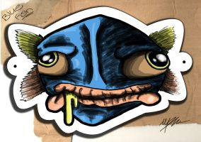 Dr Seuss Blue Fish Mask by PiPeRn-n