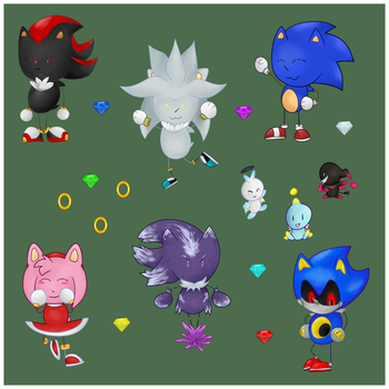 Chibi Hedgie Stickers Plus Some by timeblitz
