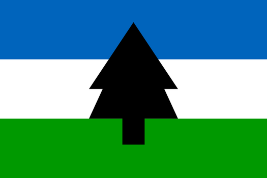 A simplified redesign of the flag of Cascadia by FerdinandRosenthal