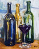 Wine Still Life by Kevinrichardfineart