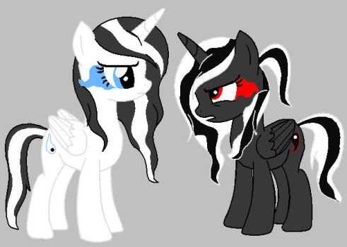 Yin-Yang Alicorns Remake by ArtistPegasus