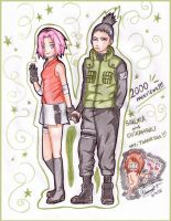 Shikamaru and Sakura thanks by MoniSaku