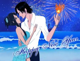 One Piece - Happy New Year 2014!!!! by FairyOfBlueFire04