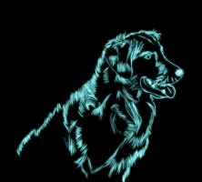 Neon Dog by Wyeth1339