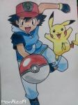 Ash Ketchum and Pikachu from Pokemon by MoinAleo19
