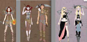DnD Characters by Xx-Cake-xX