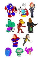 FAMILY GUY AVENGERS by BOTIMUSPRIME