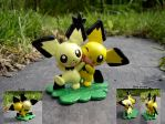 Shiny Boy and Gizamimi Pichu by Porcubird