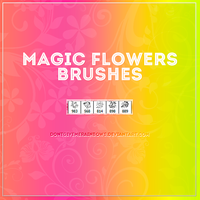 +MagicFlowersBrushes by DontGiveMeRainbows