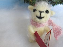 felted lamb ornament by Elvenartistsforest