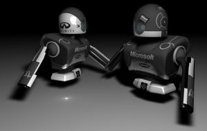 Corporate robot 3D 2 by Bangnowurdead