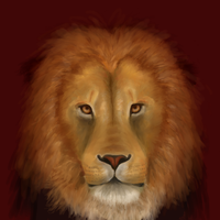 Lion painting by Jenny-Doodles