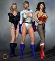DC Girls by Uroboros-Art