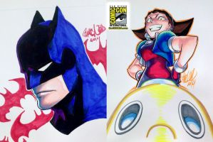 SDCC 07 - Batman and Tron Bonne by theCHAMBA