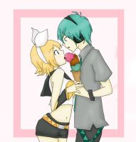 Ice Cream MikuoxRin by RinxSongs