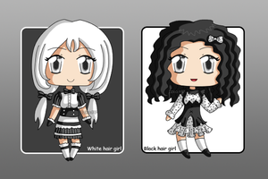 [CLOSED] Black Dots and White Stripes Adoptables by izka197
