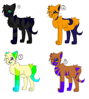 Adoptable Cats! by CollisionXIII