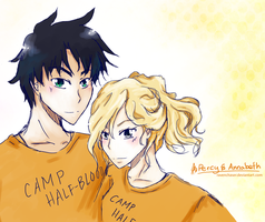 Percy and Annabeth by ravenchaser