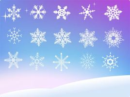Free Vector Snowflake by VectorDownload